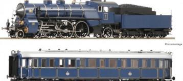 Roco set s parní lokomotivou