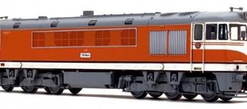 Model dieselové lokomotivy T678.017 Pomeranč