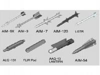 Trumpeter 753303 vzdušné rakety - stavebnice 1:32