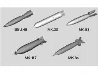Trumpeter 753307 letadlové bomby - stavebnice 1:32