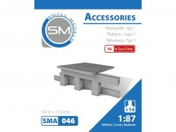 Small Models 046 nástupiště - typ 1 ( 10m = 11,5 cm)