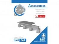 Small Models 047 nástupiště - typ 2 ( 10m = 11,5cm)
