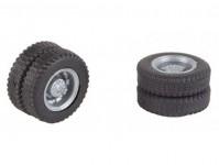Faller 163115 pneumatiky a ráfky pro Mercedes-Benz Citaro 4 ks