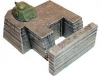 Artmaster 80011 kryt Tobruk s pancéřovou věží H0
