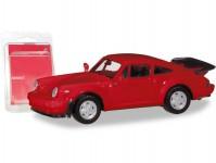 Herpa 013307-002 MiKi Porsche 911 Turbo červené