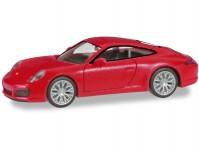Herpa 028639-002 Porsche 911 Carrera4S červené