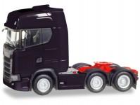 Herpa 307543-002 Scania CS HD 6x2 tahač černý