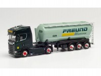 Herpa 312974 Scania CS20 HD 40m3 silonávěs Spedition Freund
