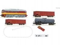 Roco 51332 z21 set dieselovou lokomotivou T679 a nákladním vlakem