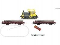 Roco 51333 z21 set dieselovou lokomotivou Sik a stavebním vlakem