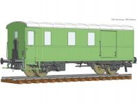 Roco 74229 služební vůz k nákladnímu vlaku Diho ÖBB