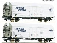 Roco 76040 set dvou chladírenských vozů Ibbehs SNCF