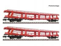 Fleischmann 829502 set vozů na přepravu aut DDm ÖBB