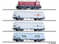 "Tillig 01049 vlak ""75 let velikosti TT"" s dieselovou lokomotivou"