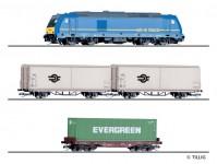 Tillig 01500 set nákladního vlaku MÁV s kolejemi na podloží