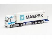 Herpa 313384 MB Actros 2011 GiSp s kontejnerem GDH / Maersk