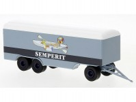 Brekina 55305 přívěs s kříňový 3-osý 1955 Semperit