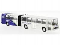 Brekina 59712 Ikarus 280.02 kloubový autobus bílý modrý / bílý 1985 Malev (H)