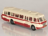RA Došlý 101110 Škoda 706 RTO červený/bílý, pruh, 2x2-dílné dveře H0