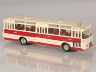 RA Došlý 102000 Karosa ŠM 11 červený, bílý pruh, 3x2dílné dveře, vlnitý plech H0