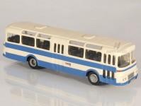 RA Došlý 102200 Karosa ŠL 11 modrý, bílý pruh, 2x3dílné dveře H0
