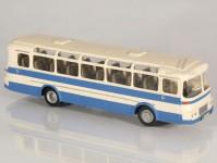 RA Došlý 102300 Karosa ŠD 11 modrý/bílý, pruh, 2x1dílné dveře H0