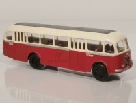 RA Došlý 103100 Škoda 706 RO červený/bílý, 2x4-dílné dveře H0