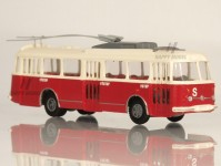 RA Došlý 120200 Škoda Tr9 červený/bílý, 3x4-dílné dveře,odporníky H0