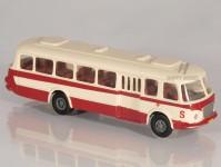 RA Došlý 200002 Škoda 706 RTO červený/bílý, pruh 1x4-dílné dveře TT
