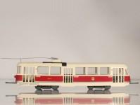 RA Došlý 800100 Tatra T1 Praha, kladkový sběrač, béžová střecha H0