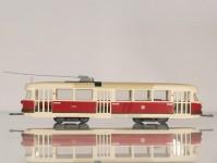 RA Došlý 800501 Tatra T2 Praha, kladkový sběrač, písková střecha H0
