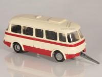 RA Došlý 910201 přvěs Jelcz PO 1E červený/bílý, bílý pruh, 1x1-dílné dveře H0
