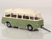 RA Došlý 910211 přívěs Jelcz PO 1E zelený/bílý, 1x1-dílné dveře H0