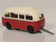 RA Došlý 910400 přívěs Karosa D4 červený/bílý H0