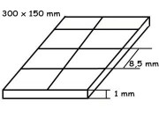 Evergreen 4506 deska 150x300x1,0mm s drážkami křížem, rozteč 8.5 x 8.5mm