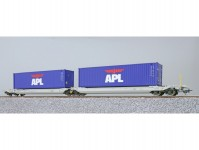 ESU 36541 kapsový vůz Sdggmrs NL-AAEC s kontejnery MEDU 800650 + MEDU 800668