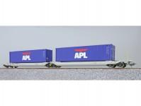 ESU 36543 kapsový vůz Sdggmrs NL-AAEC s kontejnery OOLU 818584 + OOLU 977307