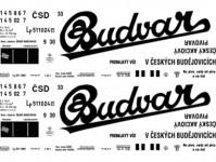 Obtisky Jiran n0310 obtisk na 2-osý vůz na pivo Lp Budvar ČSD N