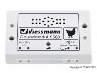 Viessmann 5569 zvukový modul Kuřata