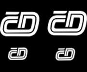 Obtisky Jiran t0102b obtisk loga ČD - 2 velká plus 2 malá bílá TT