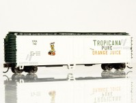 Bachmann 17954 zavřený vůz ACF 50 Steel Reefer Tropicana - White & Green