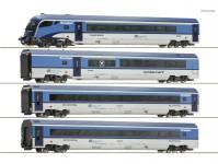 Roco 74064 set vozů Railjet s řídícím vozem 4-dílný ČD DC