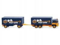 Wiking 45703 Scania 111 śkříň s přívesem ASG