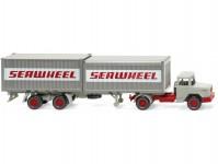 Wiking 52402 Magirus Deutz s kontejnerovým návěsem Seawheel