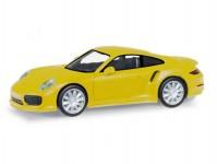 Herpa 028615-003 Porsche 911 Turbo žluté