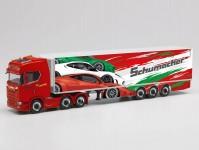 Herpa 313643 Scania CS20 HD chladírenský návěs Schumacher Würselen