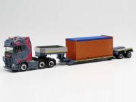 Herpa 313698 Scania CS20 HD 6x2 hlubinový návěs s kontejnerem Oehlrich