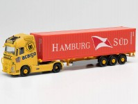 Herpa 313803 Volvo FH Gl kontejnerový návěs acargo / Hamburg Süd