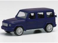 Herpa 430760-002 MB G-Klasse tmavě modrý s koly AMG