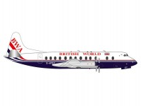 Herpa 571463 British World Airlines Vickers Viscount 800